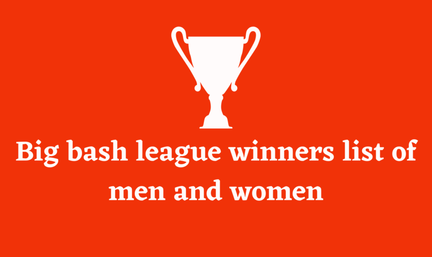 big bash league winners list of men and women