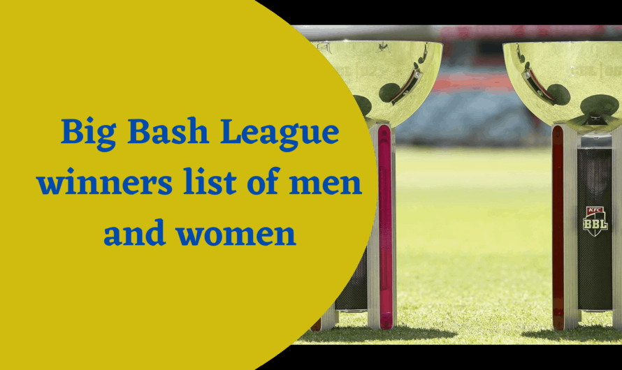 big bash league winners list of men and women