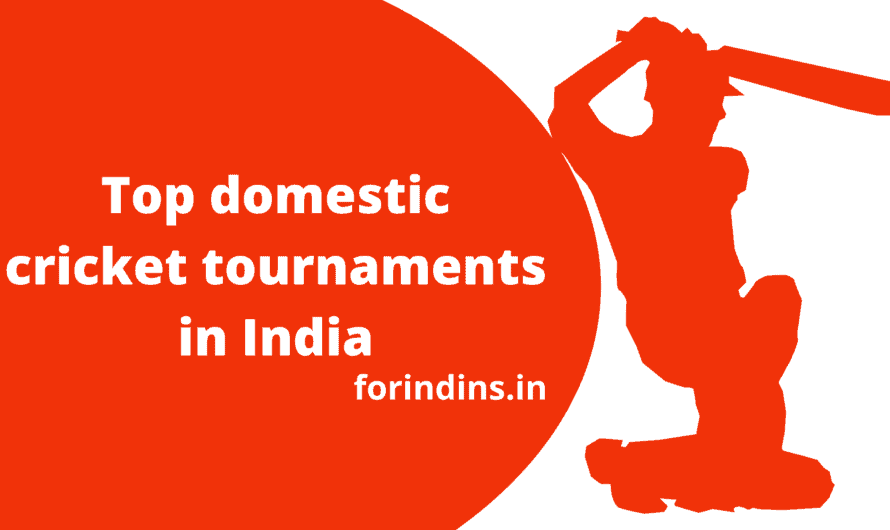 Top domestic cricket tournaments in India