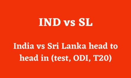 India vs Sri Lanka head to head in (test, ODI, T20)